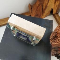 Holz+Glasschild 150x150x6mm
